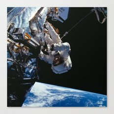 NASA Astronaut F. Story Musgrave during one of five spacewalks Repairing Hubble Space Telescope Canvas Print