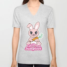 Little Miss Jumpfoot Unisex V-Neck