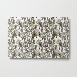 Pattern botanical boho Metal Print