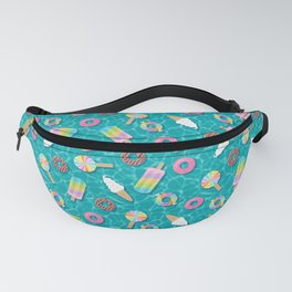 Sweet Treats Pool Floats Pattern – Turquoise Fanny Pack