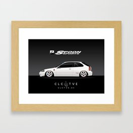 Spoon EK9 Civic Type R Framed Art Print