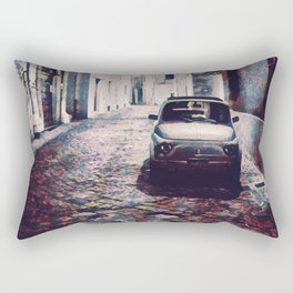 Classic Car in Back Street of Italy Rectangular Pillow