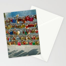 Love Locks, Pont des Arts Bridge, No.2, Paris, France Stationery Cards