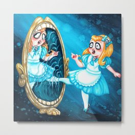 Alice through the Looking-Glass Metal Print