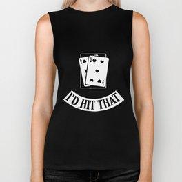 Funny Cards Black Jack Blackjack  poker Biker Tank