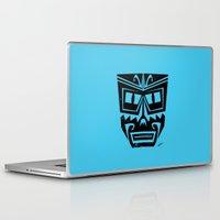 tiki Laptop & iPad Skins featuring Tiki by Nick Salmon