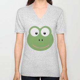 Frog head T-Shirt for Women, Men and Kids D6av3 Unisex V-Neck