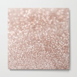 Sparkling Rose Gold Blush Glitter #2 #shiny #decor #art #society6 Metal Print