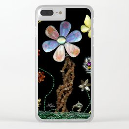 Happy Day in the Garden, Jewelry Scanography Clear iPhone Case