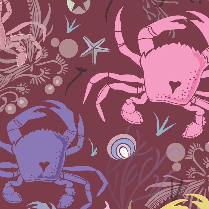 Crab pattern Leggings