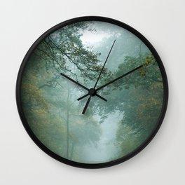 Misty Treetops Wall Clock