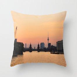 berlin kreuzberg -  skyline and sunset Throw Pillow