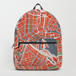 Amsterdam city map classic Backpack