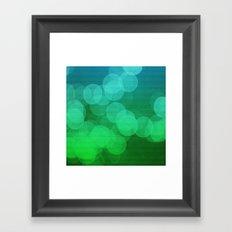 Blue Green Ombre Bokeh Framed Art Print