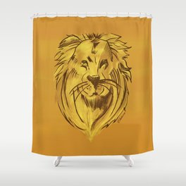 Golden King | Rei dourado Shower Curtain