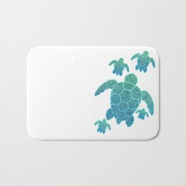 A Family of Sea Turtles Bath Mat