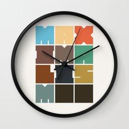 MAXIMALISM.. (Colors) Wall Clock