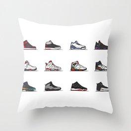 aj 1-12 are my favs especially I, IIi, IV, VI, IX, XI, XII Throw Pillow