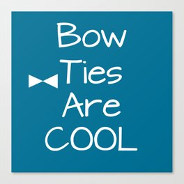 DOCTOR WHO Bow Ties Are Cool Teal Canvas Print