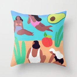 Fruity Beach Throw Pillow