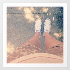 white converse Art Print
