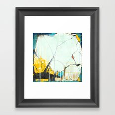 October - Square Abstarct Expressionism Framed Art Print