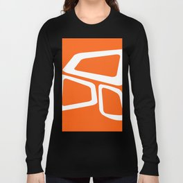Mid Century In Burnt Orange Long Sleeve T-shirt