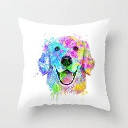 Golden Retriever Watercolor, Watercolor Dog, Golden Retriever Art Throw Pillow