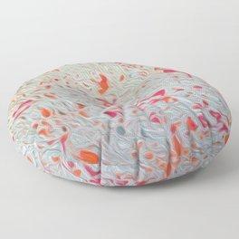 Splatter Pink & Orange on Gray Floor Pillow