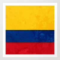 colombia Art Prints featuring Colombia by The Traveller, Wanderlust and Me