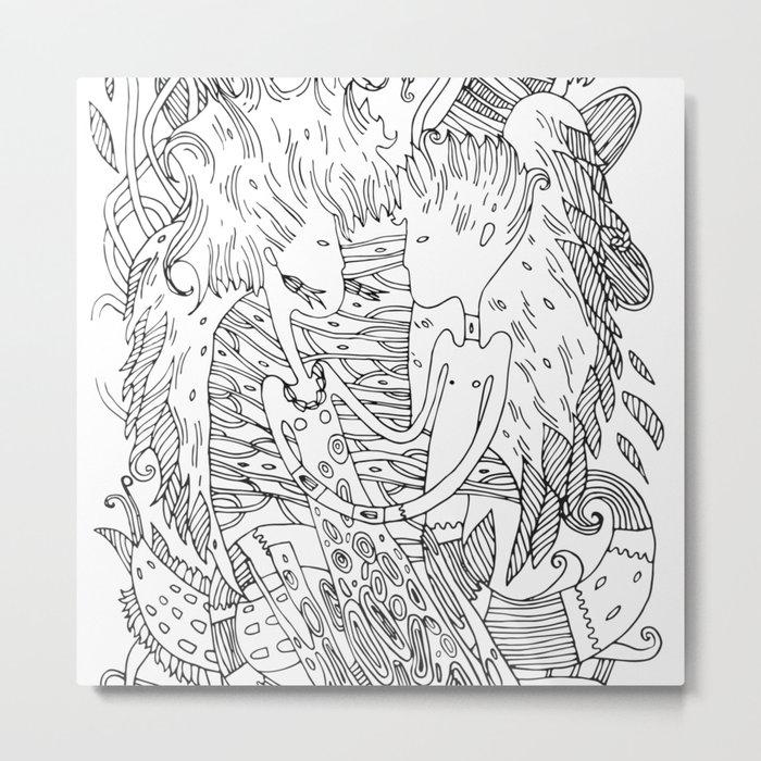 Nonverbal love Metal Print