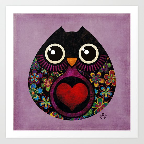 Owls Hatch Art Print