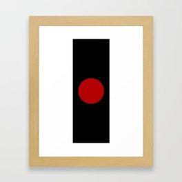 Red Sun Bindu Spot Framed Art Print