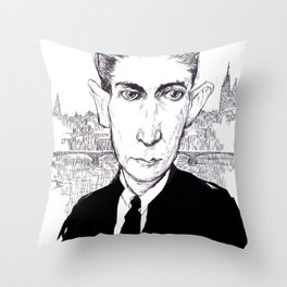 Franz Kafka Throw Pillow
