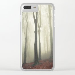 forest in fog Clear iPhone Case