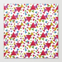 Fractal Triangles Pattern Canvas Print