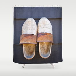 Typical dutch clogs Shower Curtain