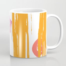 Shimmering Sunset Brushstroke Pattern Coffee Mug