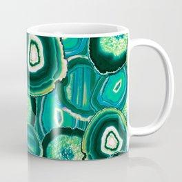Geode Slices No.1 in Emerald + Malachite Green Coffee Mug
