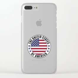 The United States of America - USA Clear iPhone Case