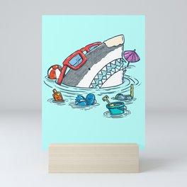 Beach Party Shark Mini Art Print