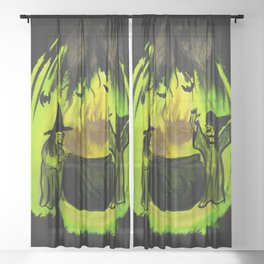 Witches Brew Sheer Curtain