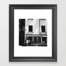 Window shopping in Venice Framed Art Print