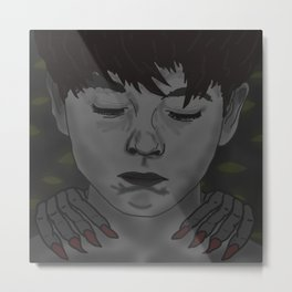 A Boy with Monsters Metal Print