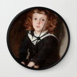 """John Singer Sargent """"Portrait of Laurence Millet"""" Wall Clock"""