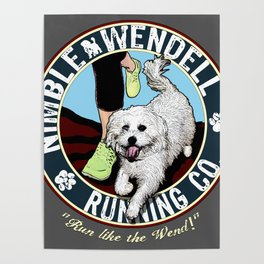 Nimble Wendell Running Co. (Vintage Logo) Poster