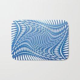 Optical Illusion in blue Bath Mat