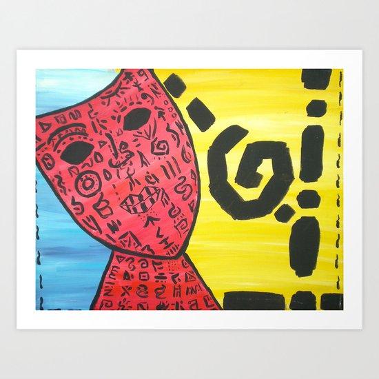 """Language Of Faces"" Art Print"