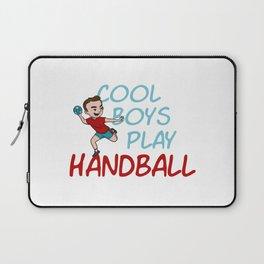 Cool Boys Play Handball Laptop Sleeve