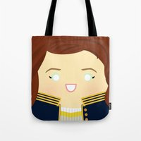 writer Tote Bags featuring The Song Writer by discojellyfish